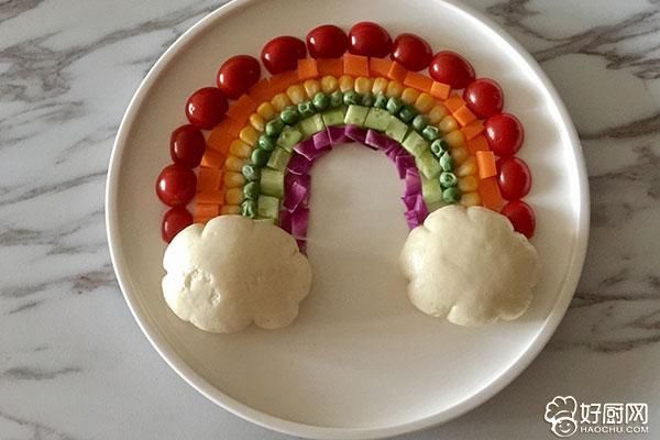 彩虹蔬菜馒头沙拉的做法步骤_12
