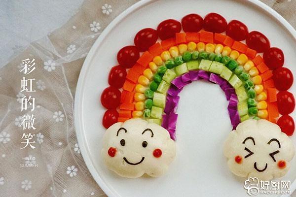 彩虹蔬菜馒头沙拉的做法步骤_13
