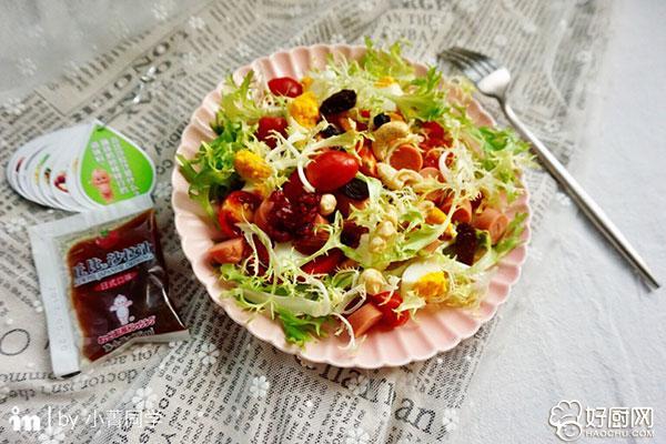 苦苣鸡蛋火腿沙拉的做法步骤_5