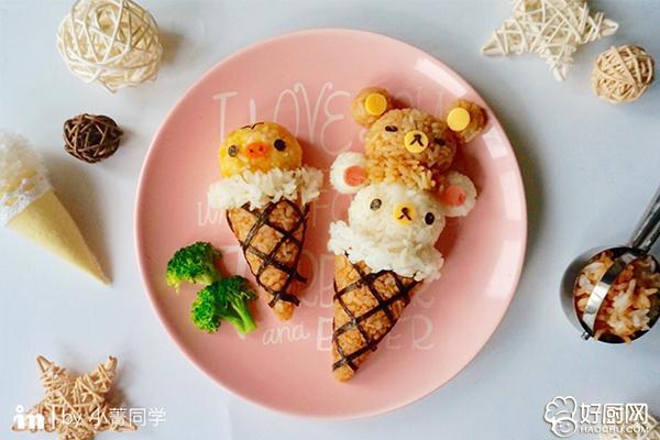"""轻松熊""""冰淇淋""""便当的做法步骤_6"""