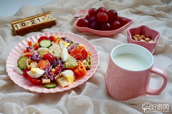 柚香多彩意面沙拉的做法步骤_9