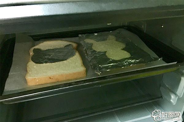 萌兔子烤吐司片的做法步骤_4