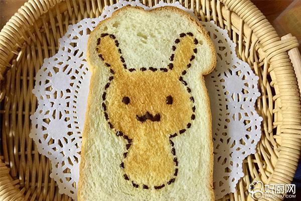 萌兔子烤吐司片的做法步骤_7