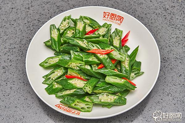 秋葵炒肉的做法步骤_5