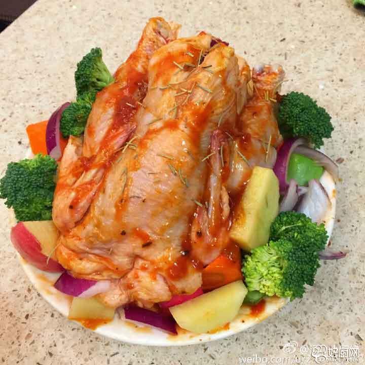 经典蔬菜烤鸡的做法步骤_1
