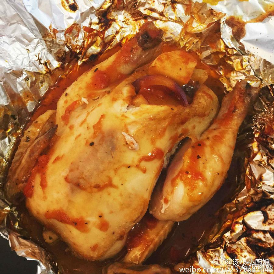 经典蔬菜烤鸡的做法步骤_2