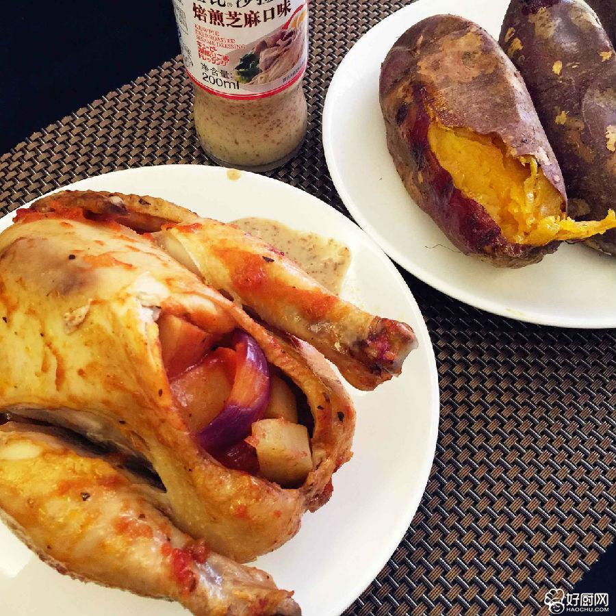 经典蔬菜烤鸡的做法步骤_3