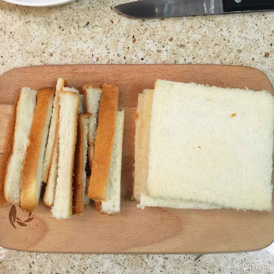 香煎香蕉面包卷的做法步骤_1