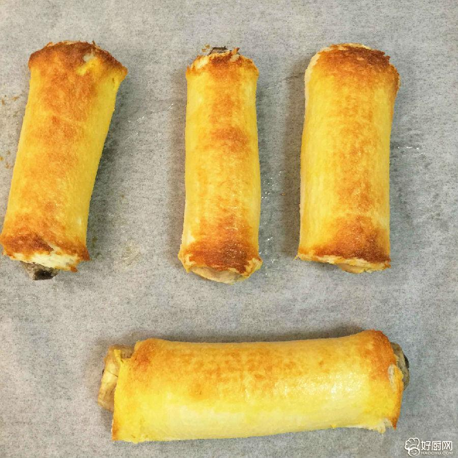 香煎香蕉面包卷的做法步骤_5