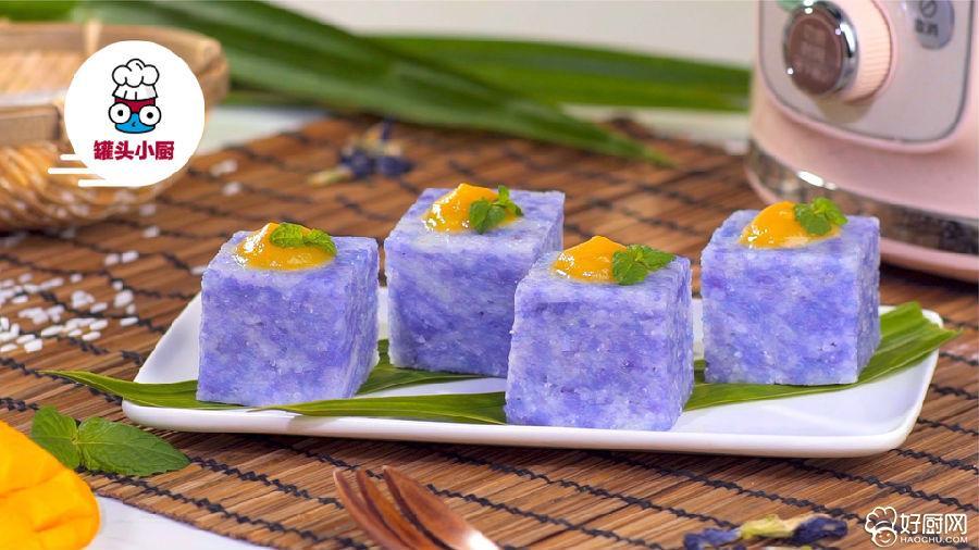 紫砂锅蓝花糯米糕的做法步骤_6