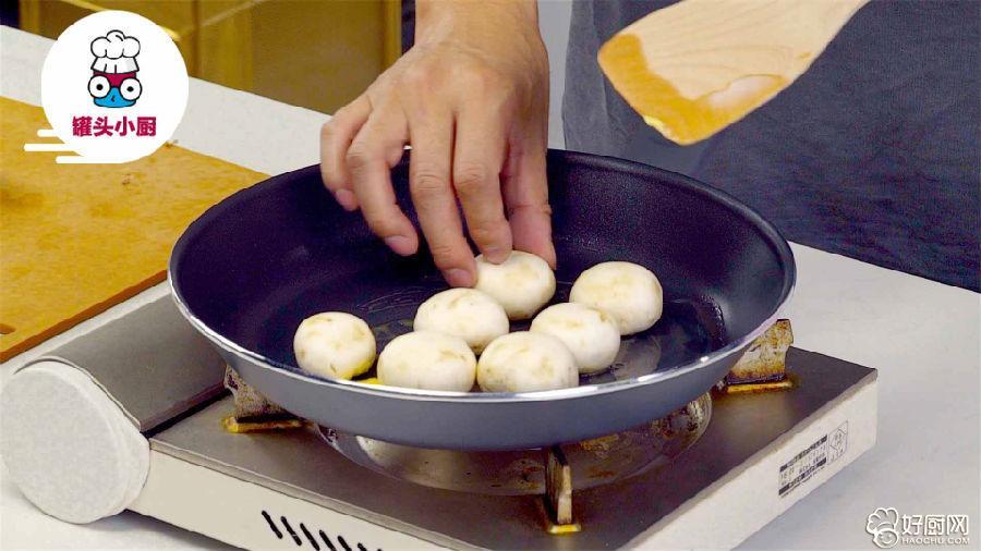 黄油煎口蘑的做法步骤_3